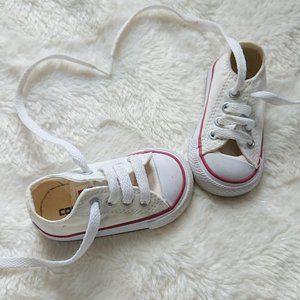 Cream/White, Baby Converse Size 3 US